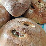 recette Fougasse individuelle olives et jambon de Pays