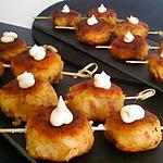 recette Boulette de pomme de terre au lardon coeur kiri