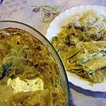 recette Gratin de cabillaud sur fondue de poireaux au curry