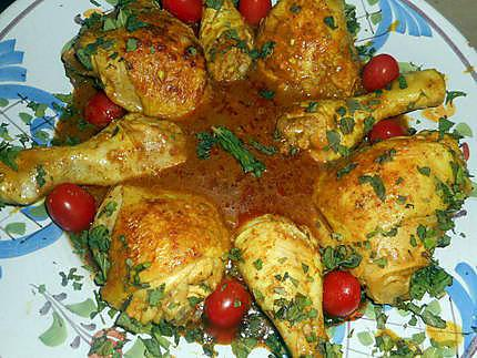 Recette de cuisses de poulet a la pate de curry rouge - Cuisse de poulet calories ...