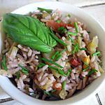 recette Pilaf au vin rouge et aux légumes méditerranéens
