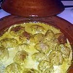 recette Tajine de boulette de poisson a la creme