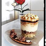 recette poêlé de banane crumble petite chocolat sous mousse au chocolat blanc caramélisée