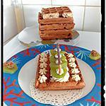 recette gaufres avoine-chocolat 2 en 1 croquantes et moelleuses et crème fromage frais miel