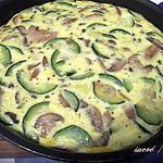 recette Frittata courgettes et champignons