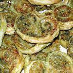 recette Palmiers apéritifs au pesto et au comté