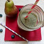 recette Smoothie fruité Poire/myrtille