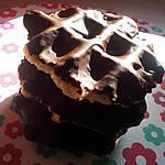 recette Gaufres de liége et son glaçage chocolaté
