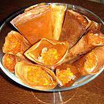 recette P'ti cornet avec un peu de crème fraiche accompagné de saumon et d'oeufs lympe