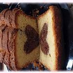 recette Cake à la vanille et son coeur chocolat