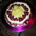 recette Gateau foure a la pomme cha'tilly et fraises a