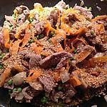 recette Wok de bœuf aux légumes croquants