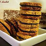 recette **Tendres Biscuits sablés à la chataîgne garnis choco-marron ,un peu Bio.... délicieux**