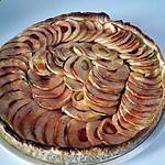 recette tarte aux pommes coulis de fraise