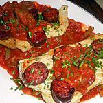 recette Escalope de veau au chorizo