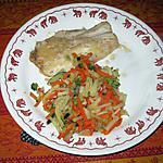 recette Filet de plie et brunoise de légumes au raifort