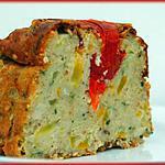 recette Cake à la brousse, courgette jaune et tofu fumé.