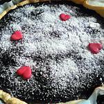 recette Tarte au chocolat et poires