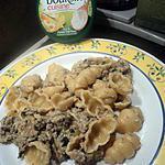 recette pate au boursin ail et fine herbe avec epinard et hachée