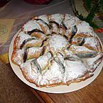 recette tarte soleil au nutella et amandes