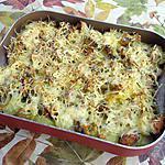 recette Gratin de Morue aux pommes de terre et champignons au curry