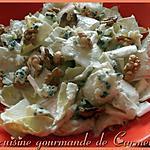 recette Salade d'endives aux noix et sauce au Roquefort