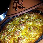 recette Tajine de boulettes de légumes maison gratiné au fromage
