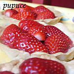 recette Tartelettes  légères aux fraises