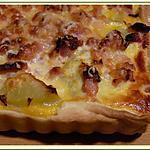 recette Tarte pomme-de-terre, oignon et lardons fumés