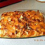 recette Gratin de pâtes aux knackis et béchamel à la tomate