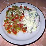 recette Queue de merlu aux dés de légumes, sauce au curry