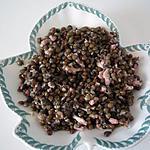 recette Salade de lentilles aux lardons