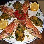 recette Rouget grillé avec son écrasé de courgettes au safran