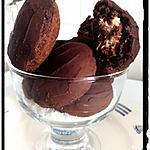 recette madeleine au chocolat noir truffé à la noix de coco comme des bounty
