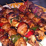 recette Brochette de dinde chorizo marinée