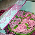recette Gâteau damier Bouquet de rose