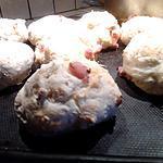 recette Petit pain comté/ lardons