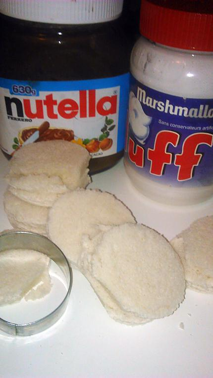 recette de beignets de pain de mie au nutella fluff. Black Bedroom Furniture Sets. Home Design Ideas