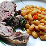 recette Roti d'agneau au beurre d'escargot