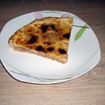 recette Tarte au poires, fond nappé chocolat noisette.
