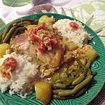 recette Poulet curry moutarde aux pommes