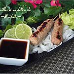recette Brochettes de porc vietnamiennes