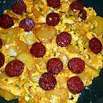 recette Tortilla pommes de terre,chorizo