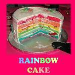 recette Rainbow Cake (Gâteau Arc en Ciel) CITRON - FRAISE