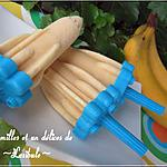 recette Sucettes glacée à la banane et au miel