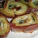 recette Paniers de pommes de terre au roquefort enrobés de lard