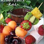 recette Brochettes de fruits au chocolat et à l'orange