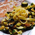 recette Courgette et tagliatelles