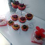 recette Cupcake citron coeur au Nutella glaçage au chocolat Papillons