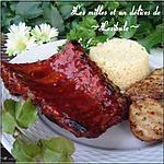 recette Côtes levées, sauce piquante au miel et à l'ail